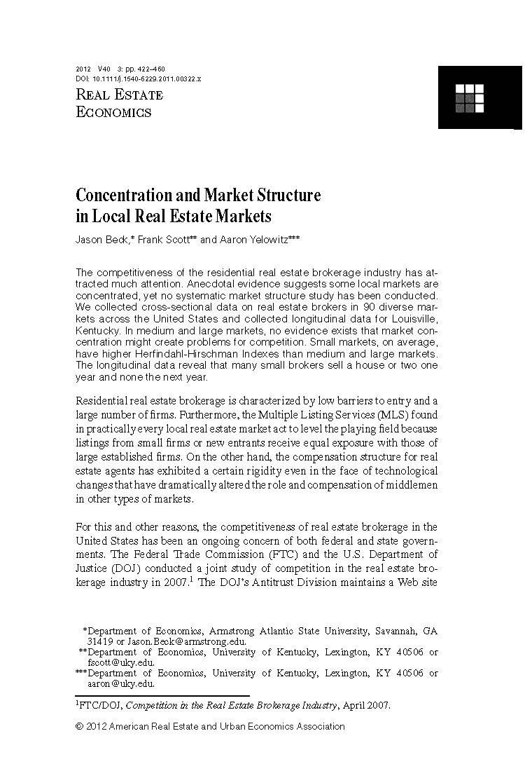 I'm doing an economics research paper about my local housing market.?